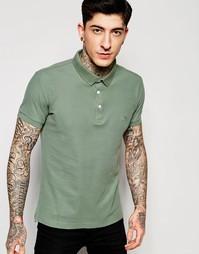 Зеленая футболка-поло узкого кроя Lindbergh - Зеленый