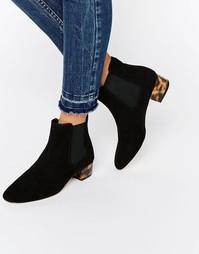 Ботинки челси на низком блочном каблуке ASOS AMBER - Черный