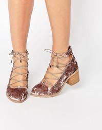 Туфли на шнуровке ASOS OOH LA LA - Серо-коричневый