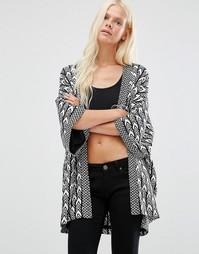 Фактурная куртка‑кимоно Minimum - Черный