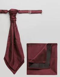 Темно-красный шейный платок и платок-паше ASOS Wedding