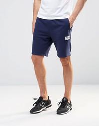 Темно-синие шорты с логотипом New Balance EMS61710 - Темно-синий