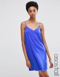Платье-сорочка длиной мини ASOS TALL - Кобальтовый
