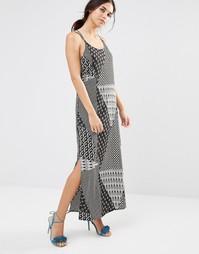 Платье макси с платочным принтом Daisy Street - Черный принт