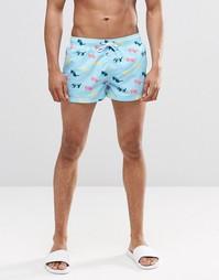 Короткие шорты с принтом солнцезащитные очки Swells - Мульти