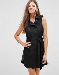 Платье без рукавов с перекрестом Girls On Film - Черный