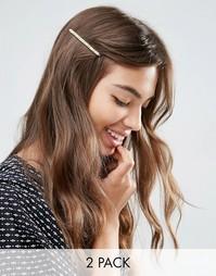 Две классические заколки для волос ограниченной серии - Золотой Asos
