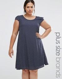 Свободное платье в горошек Praslin Plus