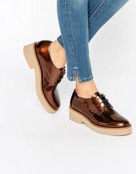 Туфли на плоской подошве ASOS MINORITY - Бронзовый металлик
