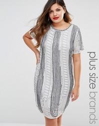 Цельнокройное платье с отделкой Lovedrobe - Серый
