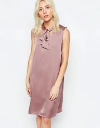 Цельнокройное платье с бантом Neon Rose - Mink