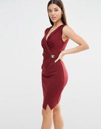 Платье с запахом спереди Michelle Keegan Loves Lipsy - Красный