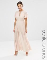 Платье макси с рукавами-бабочками Vero Moda Petite - Розовая пыль