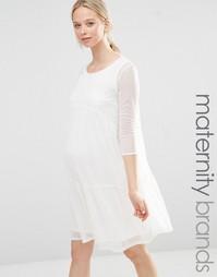 Свободное платье для беременных Bluebelle Maternity - Белый