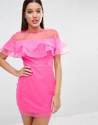 Платье мини Rare London - Ярко-розовый