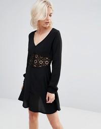 Платье с V-образным вырезом и кружевными вставками Millie Mackintosh