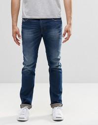 Темные узкие джинсы Diesel Thavar 853U - Темно-выбеленный