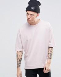 Прямая свободная футболка Sixth June - Розовый