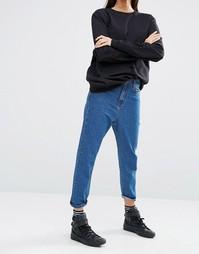 Джинсы в винтажном стиле кроя слим Liquor & Poker - Выбеленный голубой