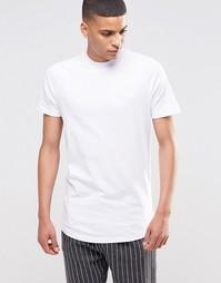 Асимметричная футболка с круглым вырезом и рукавами реглан Selected Ho