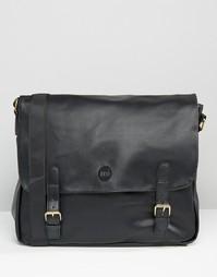 Портфель в кожаном стиле Mi-Pac - Черный