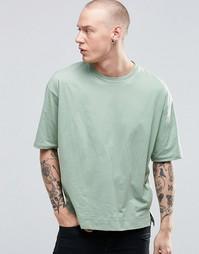 Прямая свободная футболка Sixth June - Хаки