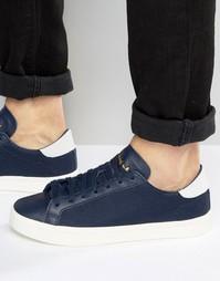 Темно-синие кроссовки adidas Originals Court Vantage S76197