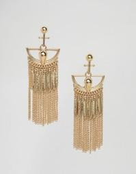 Броские серьги с бахромой из цепочек Glamorous - Золотой