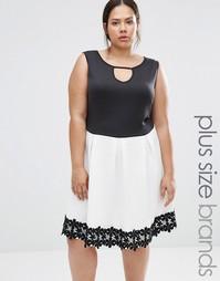 Короткое приталенное платье с отделкой кроше Praslin Plus