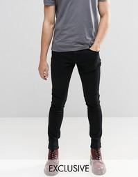 Черные суперзауженные джинсы Brooklyn Supply Co Dyker