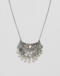 Ожерелье с дисками Glamorous - Серебряный