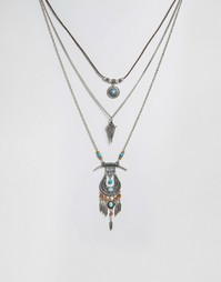 Ярусное ожерелье Glamorous - Серебряный