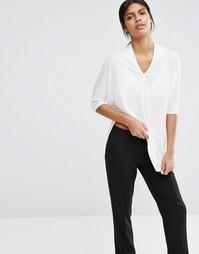 Меланжевая футболка Selected Minna - Снежно-белый