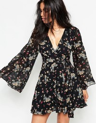 Платье Free People Lilou - Retro black combo