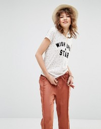 Футболка с принтом Wish Upon A Star Maison Scotch - 26 кремовый