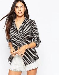 Блузка с мелким принтом Goldie Olivia - Черный