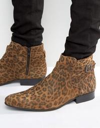 Ботинки с леопардовым принтом House Of Hounds Albion Jodphur - Рыжий