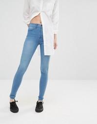 Голубые джинсы скинни Dr Denim Plenty - Светло-голубой
