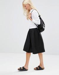 Расклешенная юбка миди Minimum Lonna - Черный