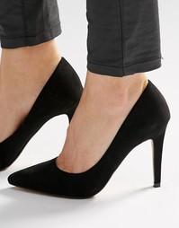 Черные туфли‑лодочки на каблуке Head Over Heels By Dune Addyson