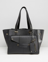 Структурированная сумка-тоут с заклепками Dune - Черный