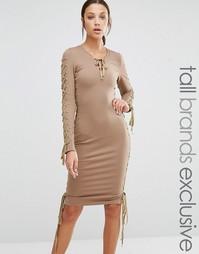 Облегающее платье-футляр с глубоким декольте True Decadence Tall
