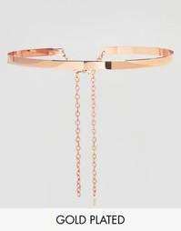 Золoтисто-розовый металлический пояс Johnny Loves Rosie