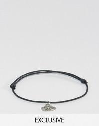 Ножной браслет с серебристой подвеской Reclaimed Vintage - Серебряный