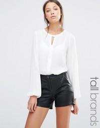 Блузка с вырезом Y.A.S Tall - Белый