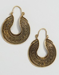 Серьги-кольца в греческом стиле Reclaimed Vintage - Золотой