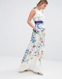 Платье макси с цветочным принтом Coast Penny - Мульти