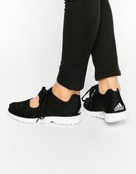 Черные трикотажные кроссовки adidas Originals - Черный