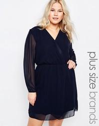 Платье с запахом AX Paris Plus - Темно-синий