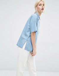 Джинсовая рубашка Minimum Niniane - Умеренный синий